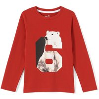 Graphic Polar Bear Print T-Shirt, 3-12 Years