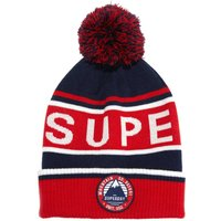 Oslo Racer Beanie with Large Logo and Bobble