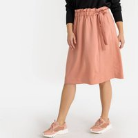 shop for Wrapover Mid-Length Skirt with Tie-Waist at Shopo