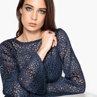 Flute Sleeve Lace Blouse