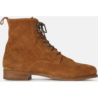 Badria Suede Ankle Boots with Lace-Up Fastening