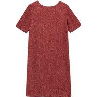 shop for Printed Short Shift Dress with V-Back and Short Sleeves at Shopo