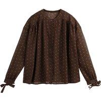 shop for Polka Dot Print Boho Blouse with Tied Sleeves at Shopo