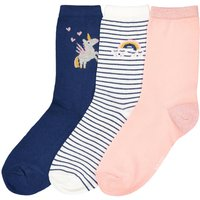 Pack of 3 Pairs of Socks with Shiny Details