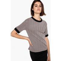T-shirt color argento donna T-shirt scollo rotondo maglia jacquard maniche corte