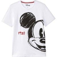 T-shirt bianco uomo T-shirt scollo rotondo maniche corte MICKEY MOUSE