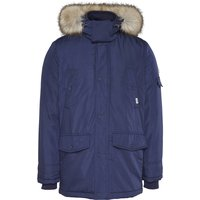 Tech Parka Jacket with Faux Fur Hood and Pockets