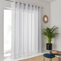 Nyong Wide Linen-Effect Voile Panel