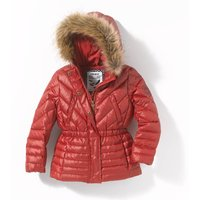 Padded Coat with Faux Fur Hood, 3-14 Years