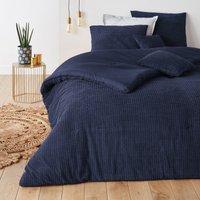 FLUFFY Quilted Contoured Velvet Bedspread