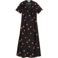 shop for Wrapover Midaxi Dress in Polka Dot Print at Shopo