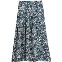 shop for Pleated Midaxi Skirt in Floral Print at Shopo