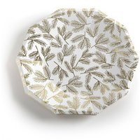 Lasini Golden Paper Plates with Branch Decoration (Set of 8)