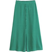 Midaxi Pencil Skirt in Polka Dot Satin