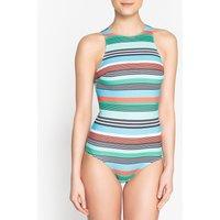 Striped Racer Back Swimsuit