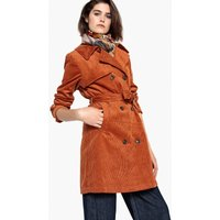 Belted Corduroy Trench Coat