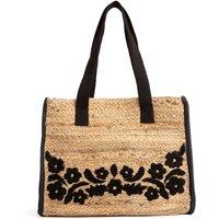 Embroidered Jute Handbag