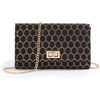 Patterned Clutch-Style Handbag