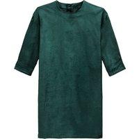 shop for Velvet Short Shift Dress with 3/4 Length Sleeves at Shopo