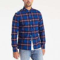Checked Print Long-Sleeved Shirt