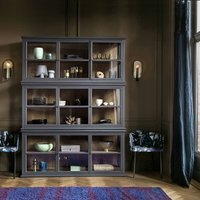 AM.PM Virginia Oak & Glass Display Cabinet