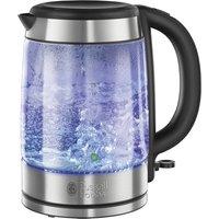 21600-10 Illuminating Glass Kettle - Silver