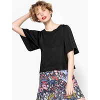 Loose Tie Front Cropped Jumper