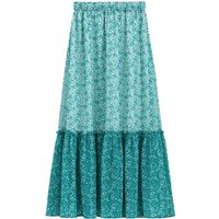 Floral Print Maxi Skirt with Gathers