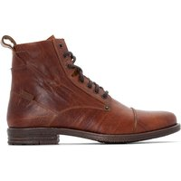 Emerson Leather Lace-Up Ankle Boots