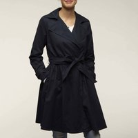 Trench Coat with Tie-Waist and Pockets
