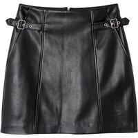 shop for Faux Leather Mini Skirt at Shopo