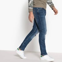 Distressed Slim-Fit Jeans