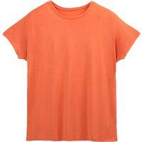 T-shirt rosso;Nero;avorio donna T-shirt ampia a maniche corte