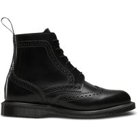 Delphine Leather Lace-Up Ankle Boots with Chunky Heel