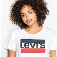 T-shirt bianco donna LEVI'S PLUS -T-shirt scollo rotondo tinta unita maniche corte