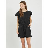 Crew Neck Playsuit with Ruffles.