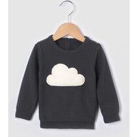 Textured Cloud Motif Jumper, Birth-3 Years