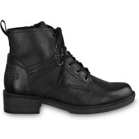 Hayden Lace-Up Ankle Boots in Faux Leather with Block Heel