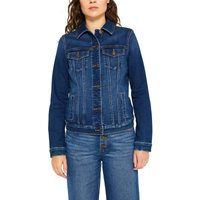 Fitted Denim Jacket with Pockets