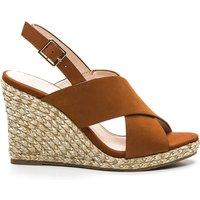 Heji Leather Wedge Heel Sandals