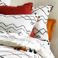 AFAW Moroccan Style Tassel Cotton Pillowcase