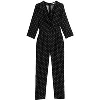 """shop for Printed Long-Sleeved Jumpsuit, Length 27.5"""" at Shopo"""