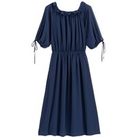 shop for Ruffled Midaxi Dress with Elbow-Length Sleeves at Shopo