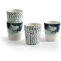 Ecume Set of 4 Fine Ceramic Handle-Free Mugs