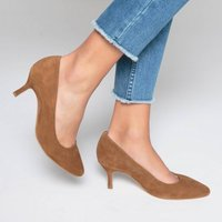 Mid-Heel Leather Shoes
