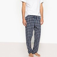 Pigiami blu uomo Pantaloni da pigiama a quadri in flanella