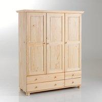 Harold Solid Pine 3-Door Wardrobe