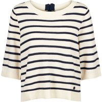 Striped 3/4 Length Sleeve Jumper with Back Zip