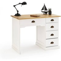 Betta Solid Pine Simple Desk with 4 5 Drawers