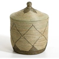Large Louna Rice Straw Storage Basket, H60cm